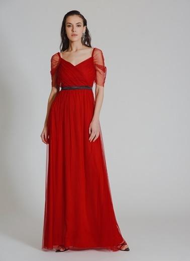 ebd0aaa4761f6 ... People By Fabrika Tül Abiye Elbise Kırmızı